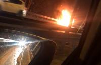Pożar auta na S7, kierunek Gdynia