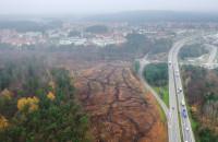 Wycinany las pod Trasę Kaszubską