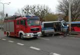 Wypadek radiowozu na ul. Morskiej w Gdyni