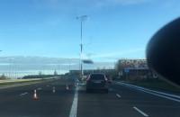 Zamknięty wiadukt na Armii Krajowej po kolizji