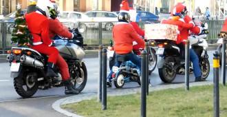 Mikołaj na motorynce