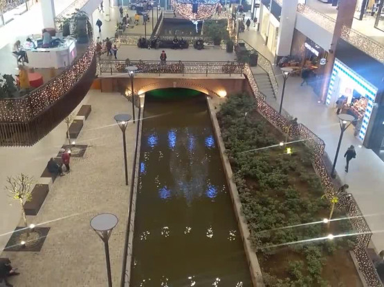 Woda w kanale Raduni w Forum Gdańsk