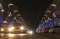Gdyńskie lampki świąteczne już świecą