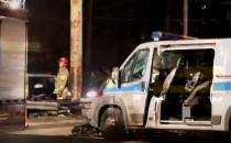 Wypadek radiowozu na ulicy Morskiej w...