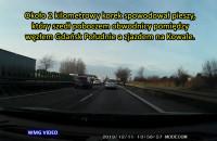 Gdańsk – pieszy na obwodnicy i korek na 2 kilometry | 11.12.2019