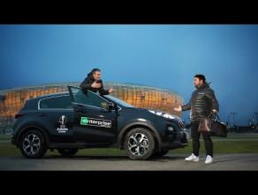 Robin van Persie w reklamówce związanej z finałem Ligi Europy w Gdańsku