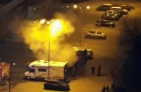 Pożar auta przy Biedronce na Chrobrego we Wrzeszczu