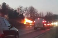 Pożar auta na Budowlanych