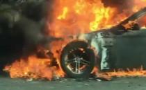 Płonie auto na obwodnicy