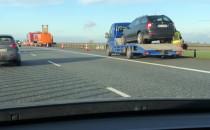 Zderzenie kilku aut na autostradzie A1 w...