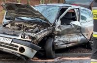 Zderzenie dwóch aut na Marszewskiej