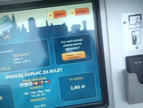 Próba nabycia biletu w nowym automacie ZTM