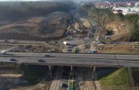 Trasa Kaszubska - postęp prac przy przebudowie węzła Dąbrowa