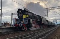 Pociąg Retro z gen. Hallerem w drodze do Pucka