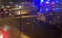 Auto uderzyło w słup na Chwaszczyńskiej