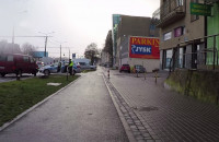 Stłuczka na ul. Morskiej w Gdyni