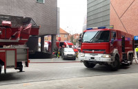 Oddymianie hotelu po pożarze sauny