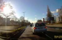 Niebezpieczny manewr kierowcy BMW