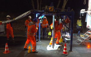 Widowiskowa renowacja kanalizacji na Jaśkowej Dolinie