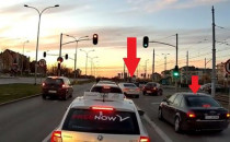 Dwóch kierowców w Audi postanowiło sobie...