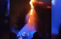 Pożar domu jednorodzinnego na Stogach