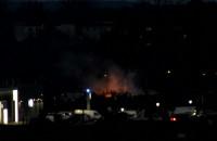Pożar w pobliżu zajezdni Wrzeszcz