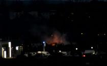 Pożar w pobliżu Nowego Portu