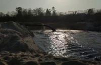 Brudna ciecz na plaży w Sopocie