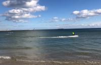 Jet surf w Gdyni i lądowanie w wodzie