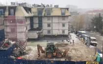 W końcu przyszła zima! Na budowie. Gdańsk...
