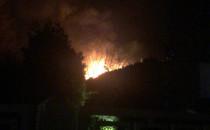 Nocny pożar w Gdyni Cisowej