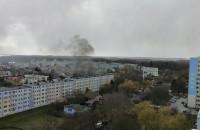 Pożar sprzętu budowlanego na Witominie