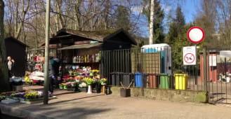 Pusto przy cmentarzu w Oliwie