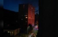 Płonie blok Gdynia Wzgórze
