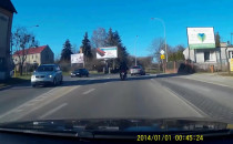 Zderzenie motocykla z autem