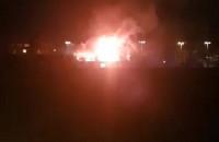 Pożar budynku na terenie Gedanii we Wrzeszczu