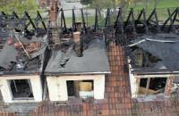 Spalone budynki na terenie Gedanii