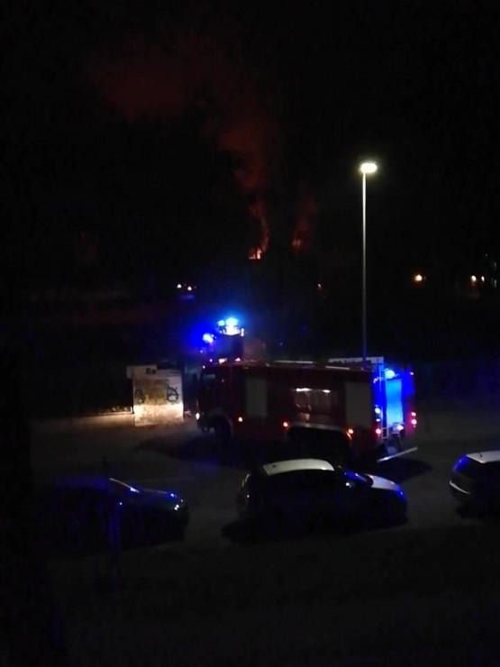 Pożar na terenie Gedanii