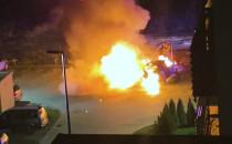 Pożar dwóch aut na ul. Potęgowskiej