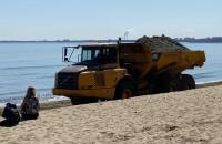 Trwa poszerzanie gdyńskiej plaży