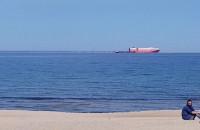 Z plaży w Trójmieście widać Hel