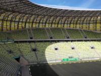 Stadion Energa Gdańsk bez murawy piłkarskiej