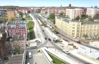 Nowe torowisko tramwajowe na Podwalu Przedmiejskim