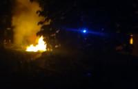 Pożar śmietników na Przeróbce