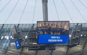 Wręczenie Pucharu Polski piłkarzom Arki Gdynia