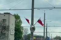 Flagi wzdłuż ul. Morskiej