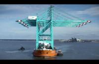 Transport suwnic z portu w Gdyni