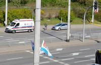 Kolizja karetki i osobówki w Gdyni