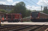 Pociąg stoi na Oruni po śmiertelnym potrąceniu