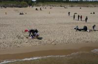 Sobotnie południe na plaży w Sobieszewie